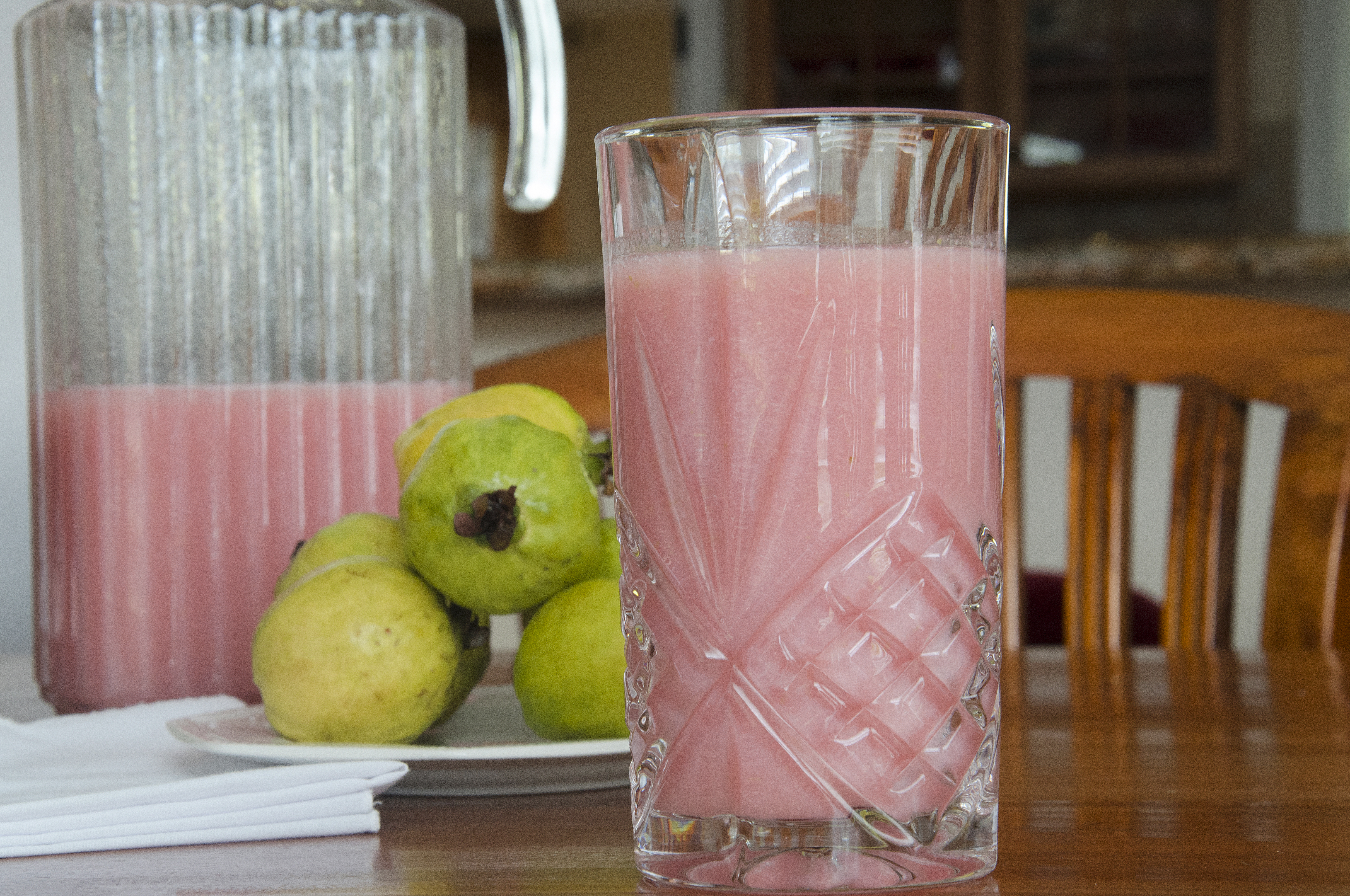 Glass of guava juice