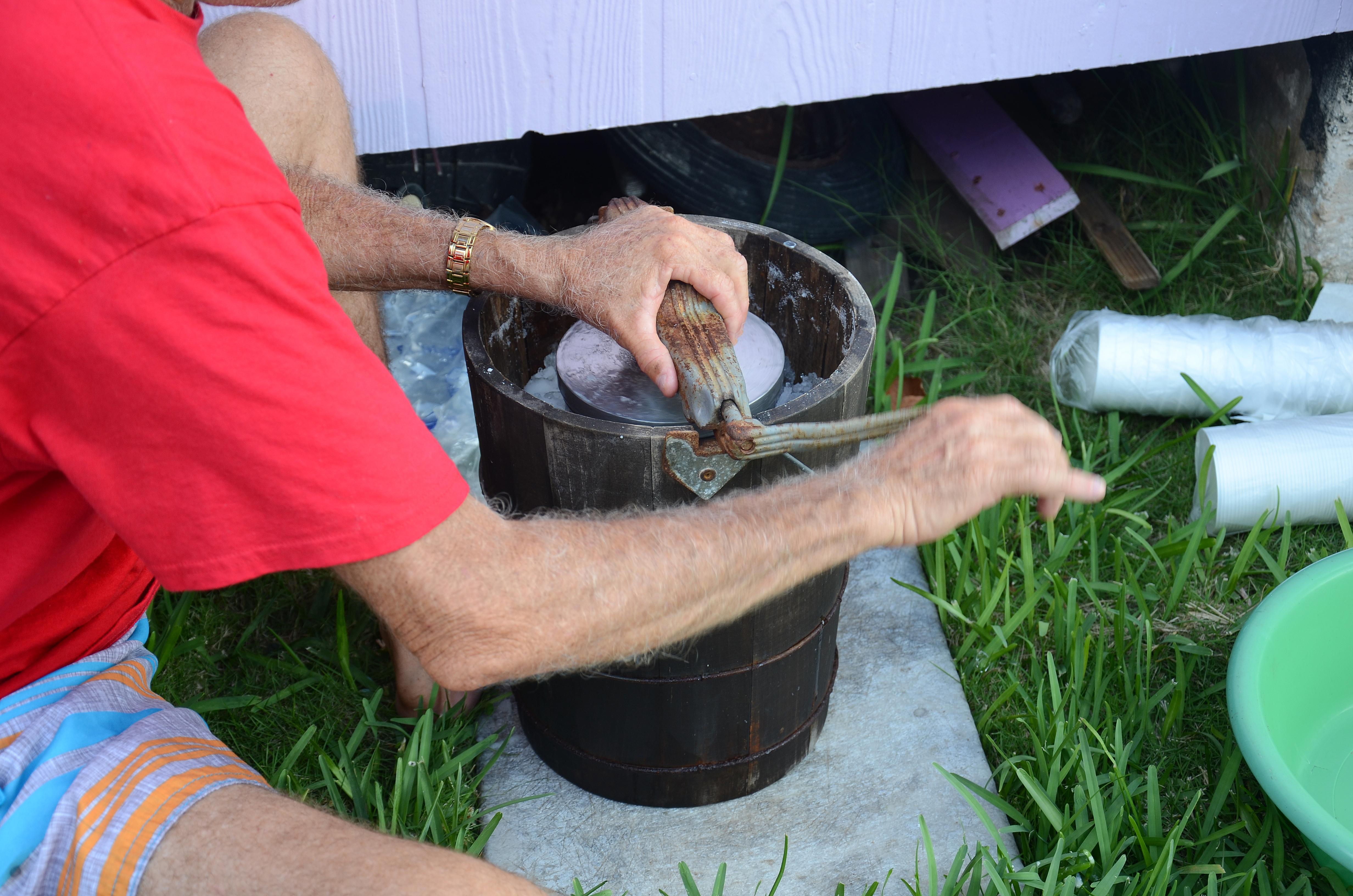 Rex Churning Soursop Ice Cream, Cherokee Sound Abaco