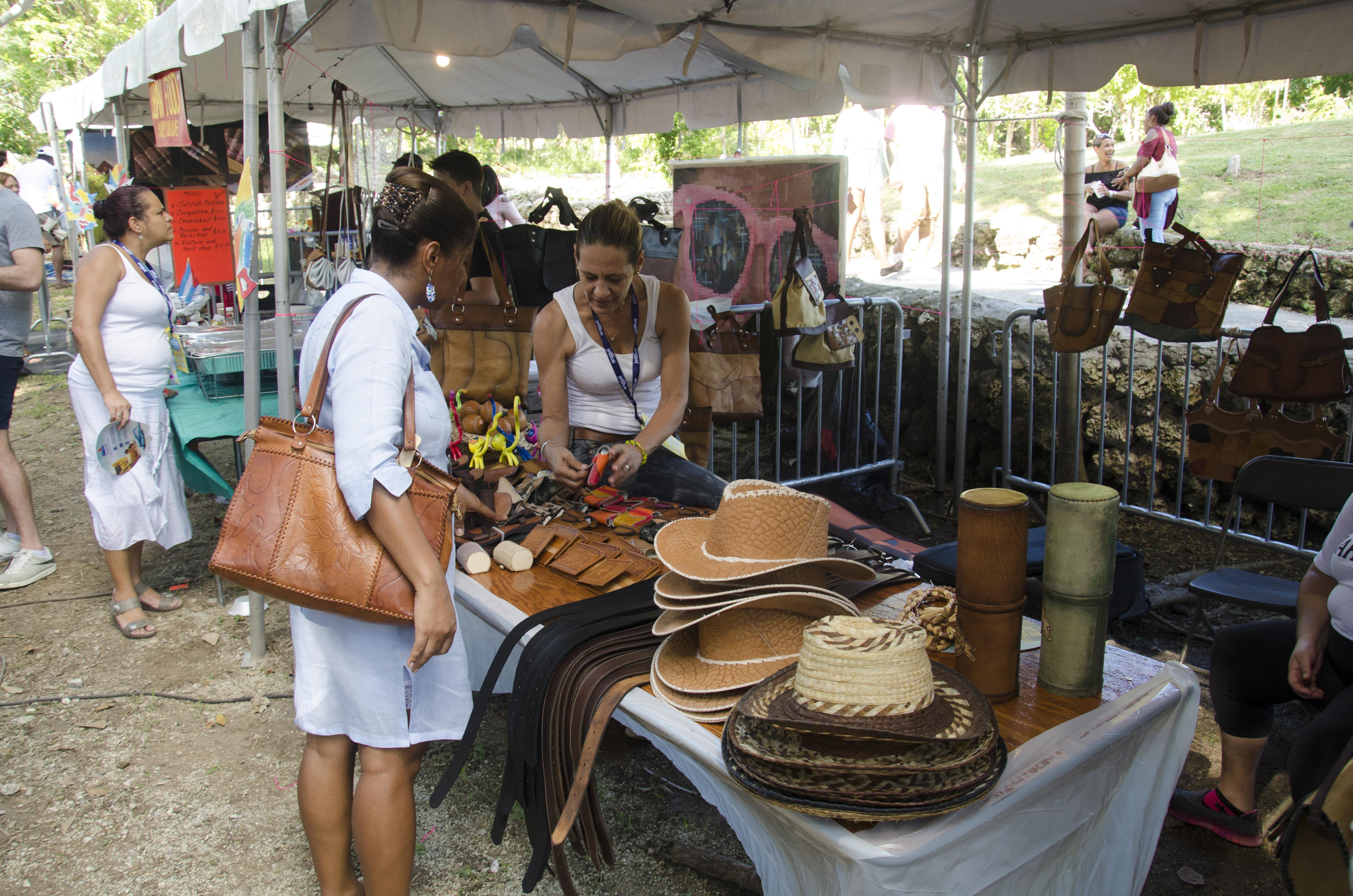Shopper at Cuba Booth, International Cultural Festival